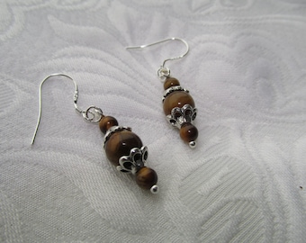 Tiger eye stone earrings