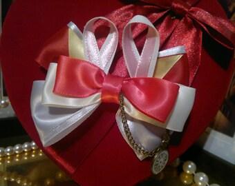 Disney Alice in Wonderland, White rabbit inspired, Handmade Hair Bow