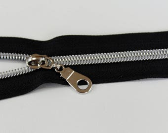 Nylon metallic zipper kit, Purse zipper kit, make a zipper, purse zipper, #5 zipper, Zipper by the yard