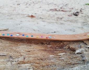 rhinestone incense holder chakras flower boho hippie handmade