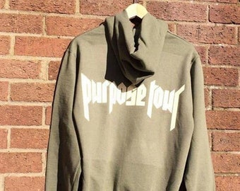 Purpose World Tour Baby Khaki Green Hoodie Sweatshirt Bieber