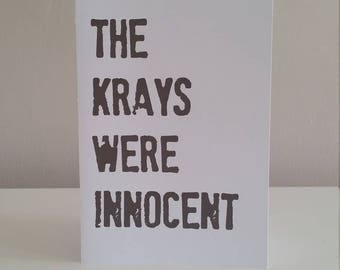 THE KRAYS were INNOCENT  - Humorous just because card