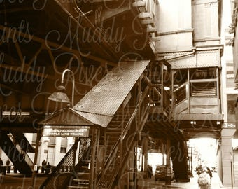 Chicago Streets Photography Printable Download-Industrial Decor-Wall Decor-Scrapbook Paper-Man Cave-Digital File-Collage Supply-Stock Photo