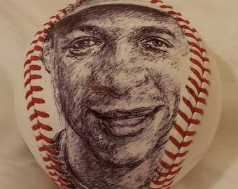 DARRYL STRAWBERRY Art Portrait Baseball