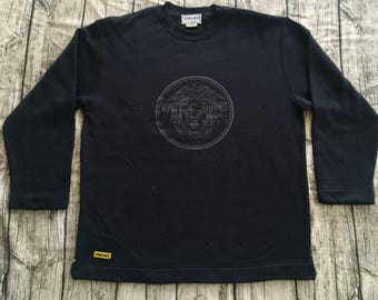 Vintage VERSACE INTENSIVE MEDUSA Logo Made In Italy Sweatshirt Couture Paris Tee