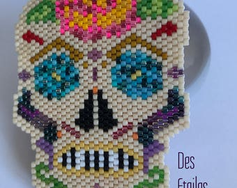 To order - Mexican skull brooch