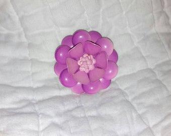 Vintage enamel flower scarf clip