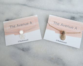 Pineapple Necklace, gold pineapple earrings, summer necklace, minimalist jewelry, silver pineapple necklace, minimalist necklace