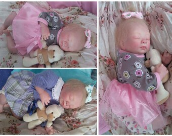 Mini baby Josephine, Reborn girl (about 30 cm)
