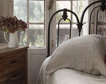 Natural WAFFLE LINEN PILLOWCASE pillow cover sham