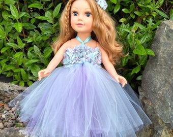 """Doll bridesmaid dress ~ 18"""" doll clothes ~ Our Generation dress ~ doll tutu dress ~ doll wedding dress ~ doll prom dress ~ American Girl"""