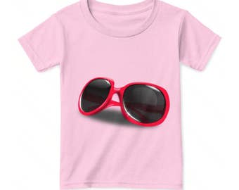Cute Girls T-shirts, red shades, cool shades graphics. Cute gifts for her.