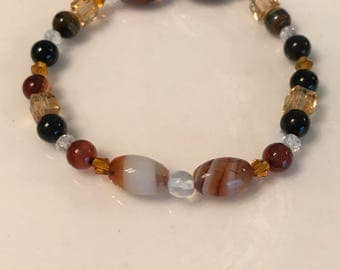 Dream agate, tigers eye, crystals - energy , balance , protection, healing & calming