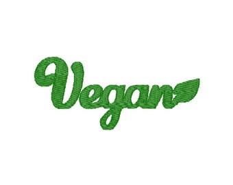 Vegan Machine Embroidery Design – Instant Download (PES, DST, and MORE)