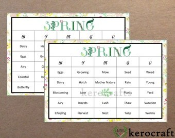 SPRING BINGO - 30 Cards