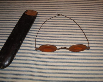 Civil War Sharp Shooter Spectacles Very Nice with period case