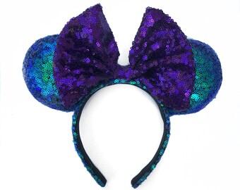 Mermaid , mermaid ears , minnie ears , mouse ears , ariel ears ,