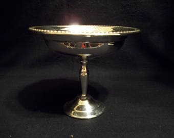 F B Rogers Compote Bowl On Attached Stand