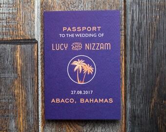passport invitations wedding