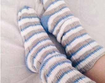 Hand knitted wool socks Knitted socks Knit socks