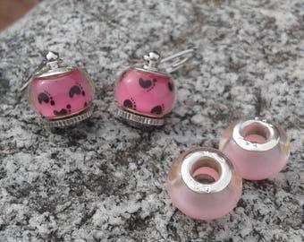 Baby Girl Interchangeable Lever Back Murano Bead Earrings with 4 beads