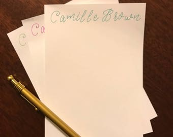 Personalized Stationery - Turquoise