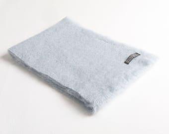 Dusky Blue Mohair Scarf