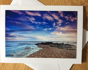 Wild Sky at Budleigh, Devon photography greetings card