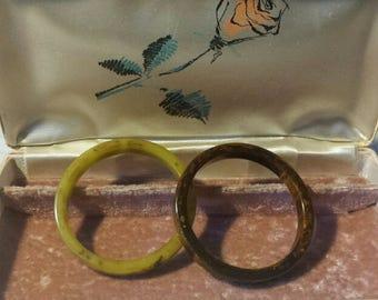 2 Bakelite Bangle Bracelets
