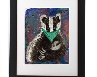 STOP THE CULL! Badger with wrench. Animal Liberation. Activism.