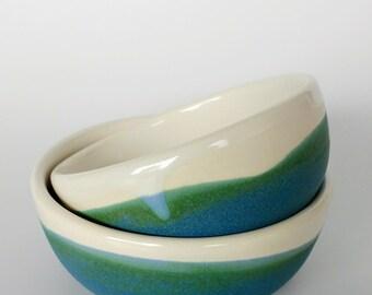 Set of two small bowls British Racing Green