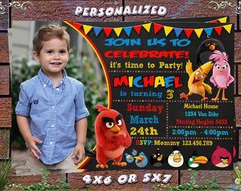Angry Birds Invitation, Angry Birds Birthday Invitation, Angry Birds, Angry Birds Printable, Angry Birds Birthday Card, Angry Birds Invites