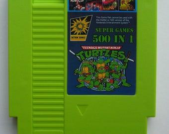 UK Item - NES 500 Games In 1 Multi Cartridge Inc. Donkey Kong, Double Dragon, Ninja Gaiden, Goonies, Mario Bros.