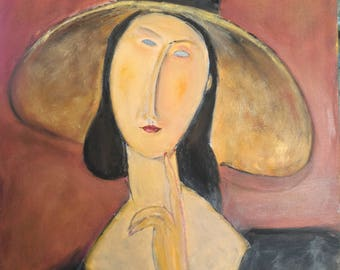 Oil on canvas 61 x 46 cm copy Lady Modigliani