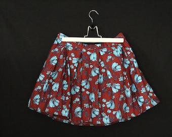 Skirt/Skirt Vintage year 1980 to flowers