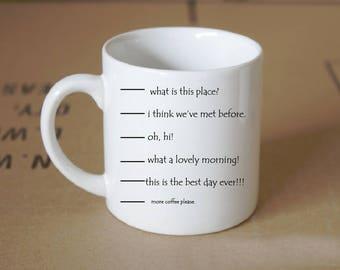 Coffee Measurements Funny Mug
