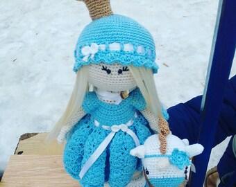 Doll Crochet soft toy Amigurumi Tilda princess