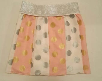 Shimmery pink and Grey skirt 1T -4T
