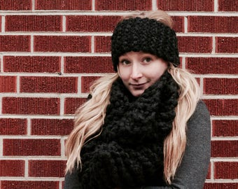 Chunky Warm and Cozy Scarf and Ear Warmer