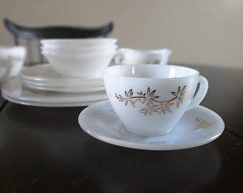 Federal Glass Co. Golden Glory Tea Cup and Saucer