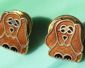 Animal Jewelry Brooches | Basset Hound Pins | Enamel Lapel Pins | Gifts for Him | Basset Hound Jewelry | Dog Jewelry | Vintage Jewelry