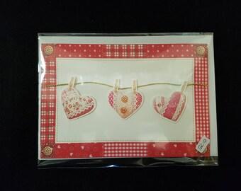 Handmade Love Heart Greeting Card