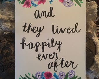 """Wedding/Engagement Card """"And they lived happily ever after"""""""