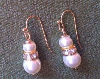 Cream Swarovski Pearl Earrings