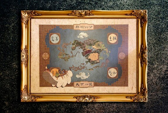 Avatar The Last Airbender Map Avatar The Legend Of Aang - Avatar the last airbender us map