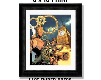 Pneumatic Cases 8 X 10 Art Print - Last Ember Press - Steampunk - Mystery - Comics - Comic Books - Art - 8 x 10