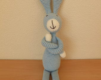 Crochet Blue Rabbit