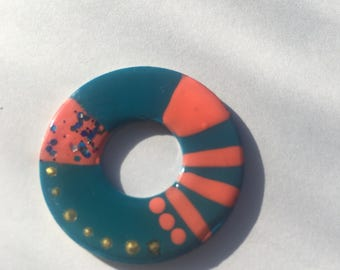 Painted washer necklace