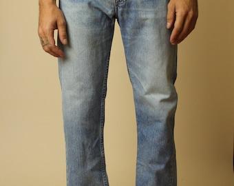 Orange tab mens levi's denim blue denim jeans 32 x 31