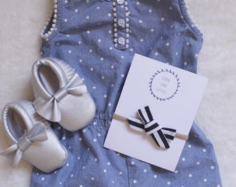 Classic Stripes Hand Tied Bow